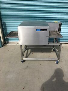 Lincoln Impinger Mod 1116 000 a Natural Gas 120 Volt Conveyor Pizza Oven W cart