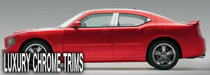 Dodge Charger Stainless Steel Chrome Pillar Posts By Luxury Trims 2006 2010 6pcs