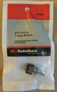 New Radioshack Spdt 3a 125vac Submini Toggle Switch 2750613 free Shipping