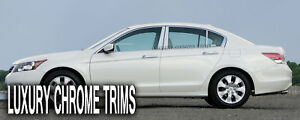 Honda Accord 4d Stainless Steel Chrome Pillar Posts By Luxury Trims 2008 2012 6p