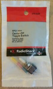 New Radioshack Spdt Mini Center off Toggle Switch 275 0325 free Shipping
