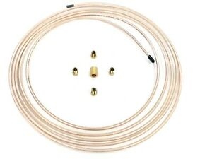 15 Ft Roll Of 3 16 Copper Cupronickel Brake Line Tubing With Fittings