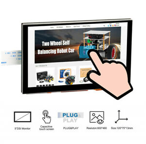 New 5 Inch Tft Lcd Display Touch Screen Dsi Connector 800x480 For Raspberry Pi