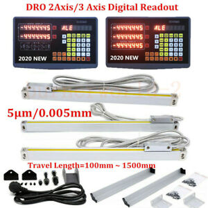 2 3axis Cnc Milling Digital Readout Display Linear Scale Lathe Milling Ruler 5um
