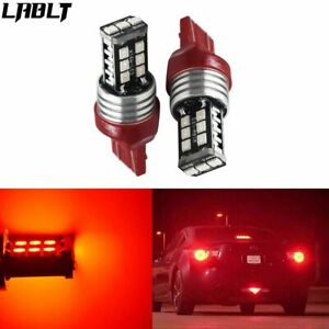 7443 Red Led Strobe Flash Blinking Brake Tail Light Parking Bulbs Nj