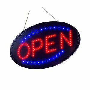 Large Led Neon Open Sign For Business Jumbo Lighted Sign Open With Static An