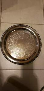 Vintage Antique Wm Rogers Silverplate Serving Tray 272 15 D