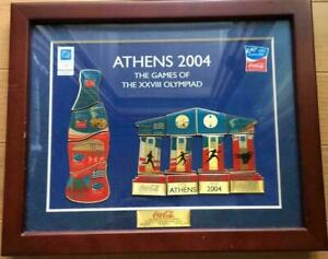 Athens Olympics Sports 2004 Coca Cola Pin Badge Set Framed Memorial Rare Vintage