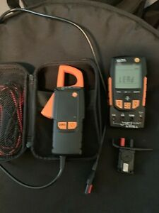 Testo 760 3 Digital Multimeter 0590 7603 With Case temp and Clamp Meter