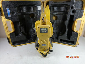 Topcon Gpt 2005 Surveying Pulse Total Station With Carry Case 30 Day Warnty K5
