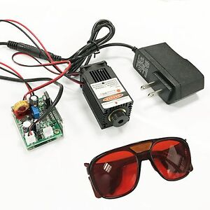 Focusable High Power 450nm 2 5w Blue Laser Module Ttl Carving burn Gift Goggles