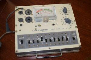 Lafayette Te 15 Radio Tube Tester With Manual Tested Working