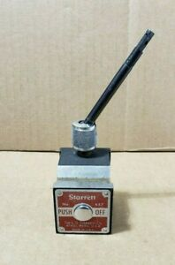 Starrett Magnetic Base Indicator Holder 657p Indicator Swivel Post 657f