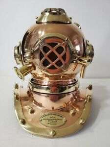 Yantra Miniature Model Antique Reproduction Sea Diver Diving Helmet