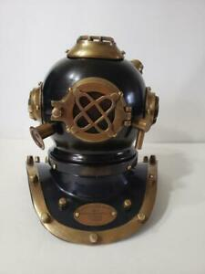 Yantra Black Miniature Model Antique Reproduction Sea Diving Helmet