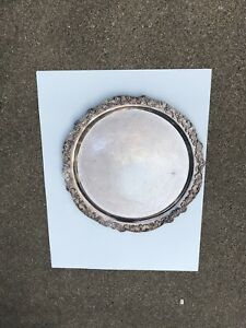 Vintage Towle Silver Plated Round Serving Platter 12