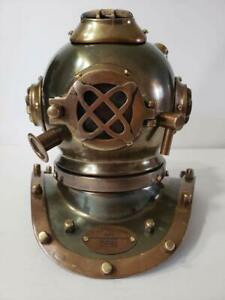 Yantra Brass Miniature Model Antique Reproduction Sea Diving Helmet