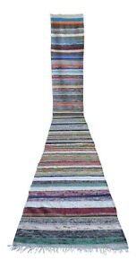 Turkish Runner Rug Hand Made Kilim Ragrug Chaput Extra Long Runner 30 X 245