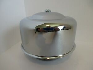 Chrome 4 1 4 Smooth Dome Style Air Cleaner 1 Or 2 Bbl Hot Rod Car Truck 7148