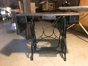 Antique Standard Cast Iron Treadle Table