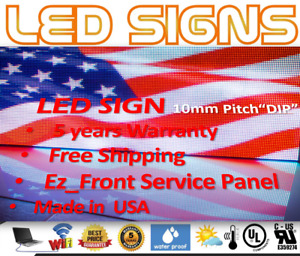 Led Sign P10 Dip Full Color Indoor outdoor Wifi Led 13 X 75 Ez Repair Usmade