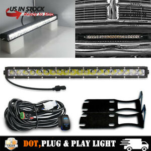 20 Led Light Bar Bumper Mount Brackets Wiring For Dodge Ram 2500 3500 2004 18