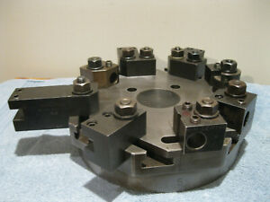 Hardinge Lathe Chucker Turret Top Plate 8 Station W 9 Holders Machinist Tools