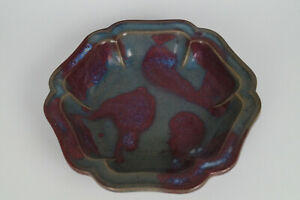 A Magnificent Of Chinese Jin Jun Ware Porcelain Hexagon Plates