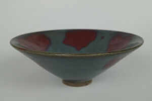 A Magnificent Of Chinese Jin Jun Ware Porcelain Bamboo Hat Bowls