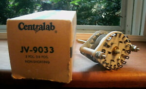 Centralab Rotary Switch Jv 9033 2 pole 2 8 Pos Non shorting Nos New Free Ship