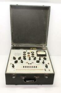 Vintage Hickok 533 Vacuum Tube Tester W orig Manual Powers Up Mutual Conductance