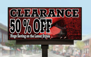 Led Sign Commercial Grade Full Color P10 Programmable Outdoor Display 4ft_x_8ft