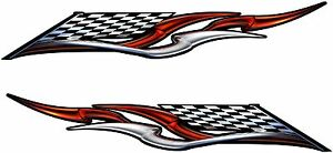Boat Car Truck Trailer Motorcycle Graphics Decals Vinyl Stickers Flag 28 X 7