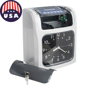 Electronic Employee Analogue Time Recorder Time Clock Lcd Monthly weekly Newsale