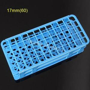 Blue 60 Holes 17x17mm 3 Layers Test Tube Rack Holder Storage Stand Lab Equipment