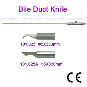 2019 Bile Duct Knife 5x330mm Laparoscopy Endoscopy Instrument Fda Ce Approved