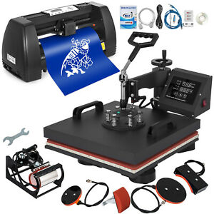 5 In 1 Heat Press 15 x15 14 Vinyl Cutter Plotter Business Printer Sublimation