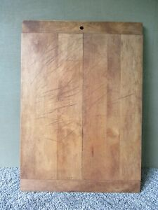 Vintage Cutting Board Primitive Country 20 X14 Maple Wood Dough Breadboard Ends