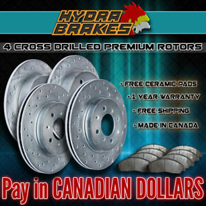 Fits 2003 2004 Ford Expedition 4wd Drilled Brake Rotors Ceramic Slv