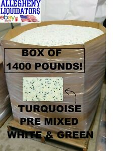 1400 Lbs Turquoise Plastic Pellets Injection Molding Pre mixed green White