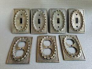 Vintage American Tack Hardware Brass Switch Plate Outlet Covers Lot Of 7 Vgc