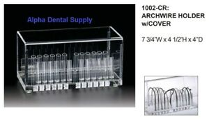 Plasdent Dental Orthodontic Archwire Holder W Cover Organizer Clear 1002 cr