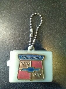 Vtg 50s 60s Gm Chevrolet Chevy Logo Light Keychain Accessories Dealer Promo