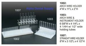 Plasdent Dental Orthodontic Arch Wire Instruments Organizer Clear Acrylic
