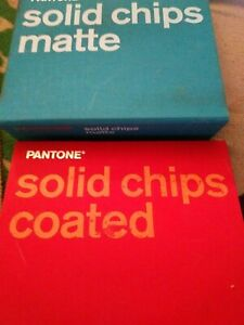 Pantone Color Chip Books Lot Of 2 Hardcover Book