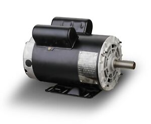 5hp Spl Air Compressor Duty Electric Motor 56 Frame 3450rpm 5 8 shaft 1phase