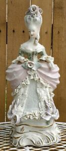 Vintage Cordey Ceramic Beautiful Figurine Victorian Lady