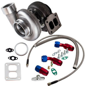 Gt45 V Band 1 05 A R 98mm Huge 600 Hp Boost Turbo Oil Feed Line Drain Line Kits
