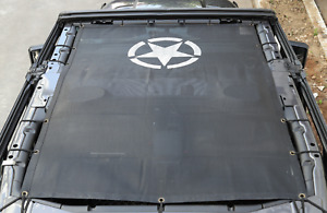 Star Print Mesh Sun Shade Top Cover Protection For 2018 Jeep Wrangler Jl 4 Door