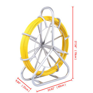 6mm 110m Fish Tape Fiberglass Wire Cable Running Rod Duct Rodder Puller Tool New